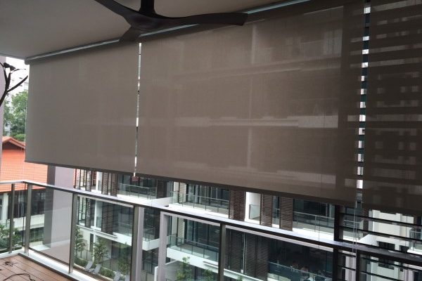 Outdoor Roller Blinds - SINGAPORE CURTAINS AND BLINDS SUPPLIER